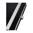 Jegyzetfüzet LEITZ Style A/5 80 lapos sima szaténfekete