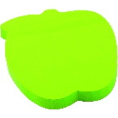 Öntapadó jegyzettömb 75x75 mm, 100 lapos, alma forma