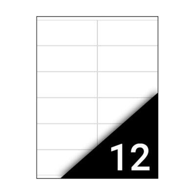 Etikett FORTUNA 105x48mm univerzális 1200 címke/doboz 100 ív/doboz
