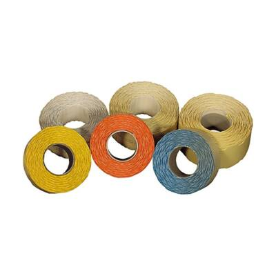 Árazószalag FORTUNA 25x12mm perforált narancs 10 tekercs/csomag