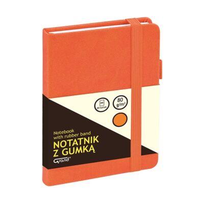 Jegyzetfüzet GRAND A/6 80 lapos puha narancs kockás