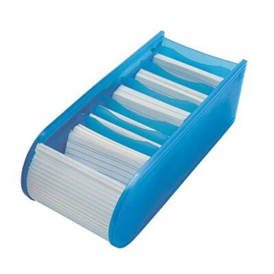 Kartotékozó WEDO műanyag 500 db-os fekvő kék