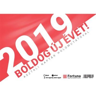 Asztali naptár Fortuna TA23 holdfázissal 2019.