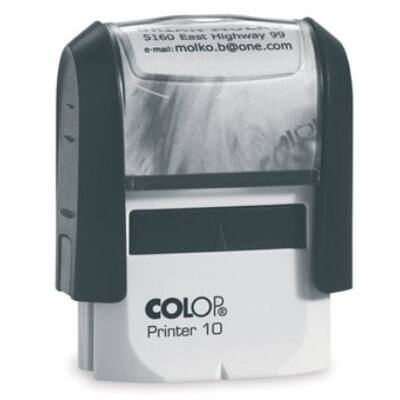 Bélyegző COLOP Printer IQ10 fekete ház fekete párna
