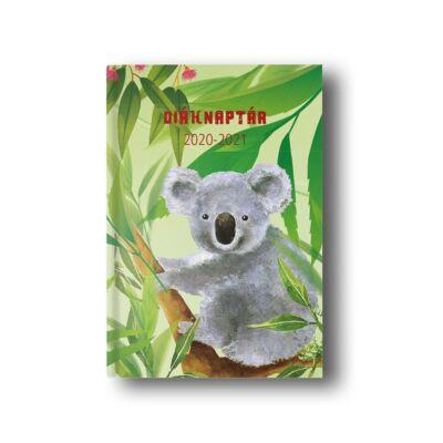 Diák zsebkönyv TOPTIMER papírborító B/6 120x170mm Koala 2020-2021