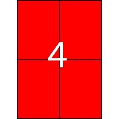 Etikett APLI 105x148mm színes piros 400 címke/doboz 100 ív/doboz