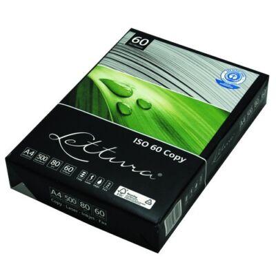 Fénymásolópapír LETTURA ISO 60 A/4 újrahasznosított 80 gr 500 ív/csomag