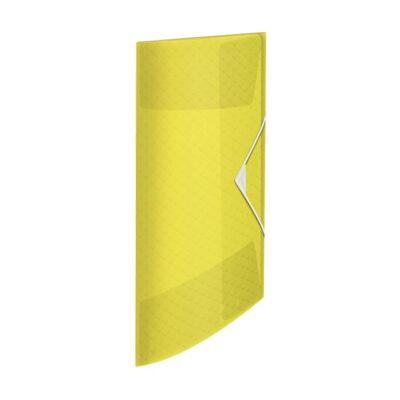 Gumis mappa ESSELTE Colour`Ice A/4 15mm PP sárga