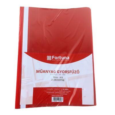 Gyorsfűző FORTUNA műanyag piros 25 db/csomag