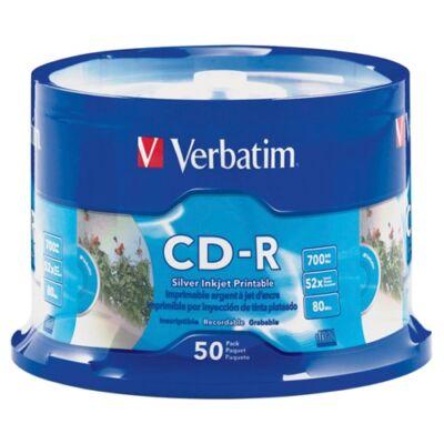 ÍRHATÓ CD VERBATIM 700MB NYOMTATHATÓ 50 DB/HENGER
