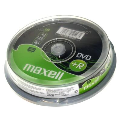 ÍRHATÓ DVD+R MAXELL 4,7GB 10 db/HENGER