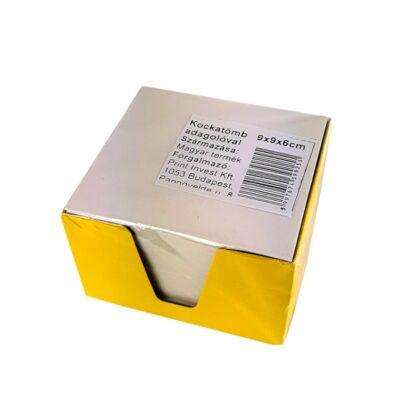 Írótömb fehér 9x9x6 cm egyszínű színes tartó