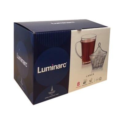 Pohár készlet kávés/teás LUMINARC Lance üveg 8 db/dob