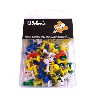 Táblatű WEBER`S műanyag dobozban színes 100 db-os